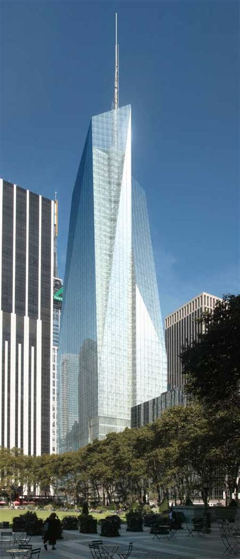 bryant park  york bank  america tower  architect