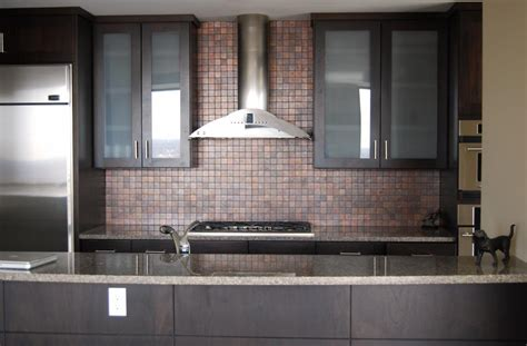unique style with copper backsplash tiles savary homes