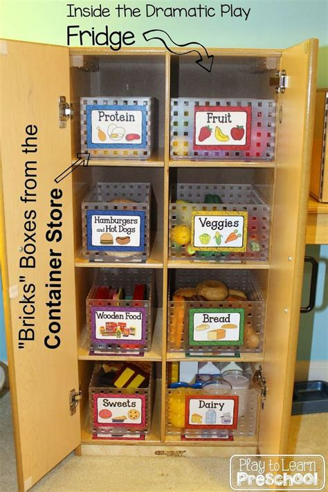 organizing play food in the dramatic play center free 527 | 1cfdd60d35adade7590613434794f2e7 classroom organization organization ideas