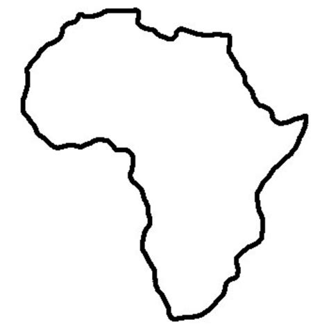 earth outline africa world africa outline free images at clker vector