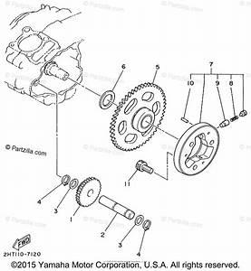 Yamaha Atv 1999 Oem Parts Diagram For Starter Clutch