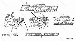 Honda Atv 2002 Oem Parts Diagram For Marks  Trx500fa U0026 39 01