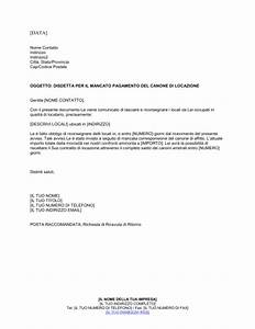Disdetta per il mancato pagamento del canone di locazione Modelli e esempi di moduli Biztree