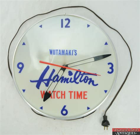 vtg 15 quot lighted hamilton advertising electric wall