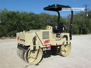 Ingersoll Rand Dd 22 Compactor Roller Vibratory Dual Drum Diesel Deutz Dfw Tx