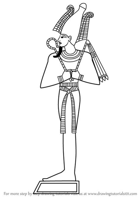 learn   draw osiris egyptian gods step  step