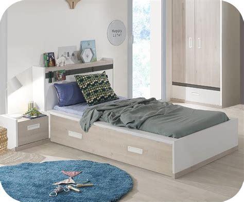 id馥s d馗o chambre enfant lit enfant il 233 o blanc et bois 90x200 cm