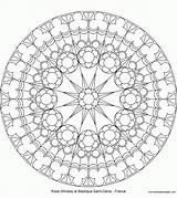 Coloring Compass Rose sketch template