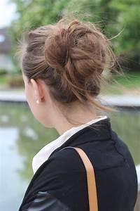 Chignon Cheveux Mi Long : chignon cheveux mi long idees coiffure blog quotidien de ~ Melissatoandfro.com Idées de Décoration