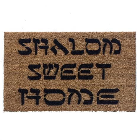 shalom doormat shalom y all welcome doormat by