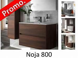 Meuble 80 Cm : meubles lave mains robinetteries meuble sdb meuble de salle de bain 80 cm noja 800 2 tiroirs ~ Teatrodelosmanantiales.com Idées de Décoration