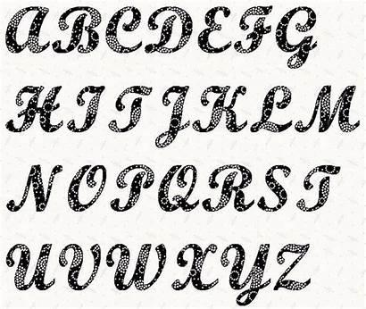 Letter Alphabet Stencils Font Templates Fancy Printable