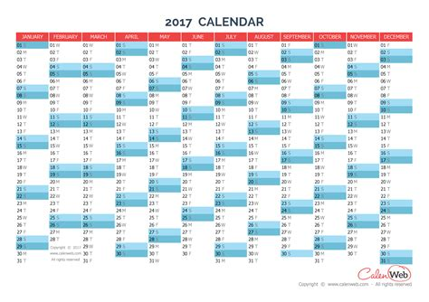 2017 calendar planner yearly calendar year 2017 yearly horizontal planning