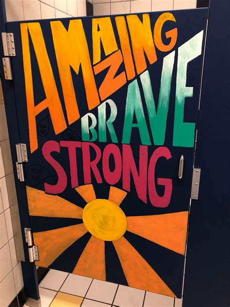 middle school redecorates bathrooms  inspire students