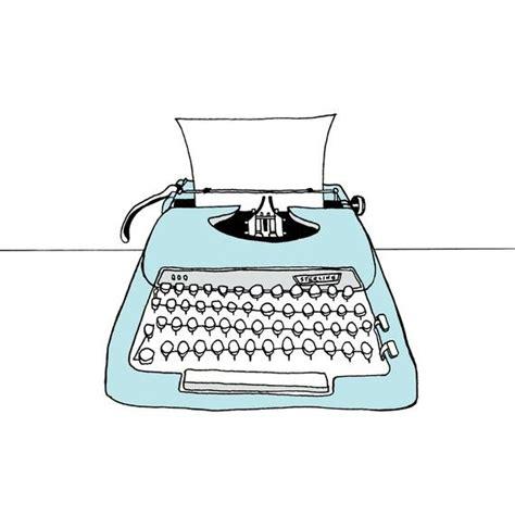 typewriter illustration print  sterling typewriters