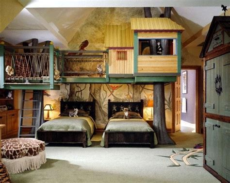 treehouse bedroom ideas cool interior kids bedroom with the tree house style children s room with false tree house