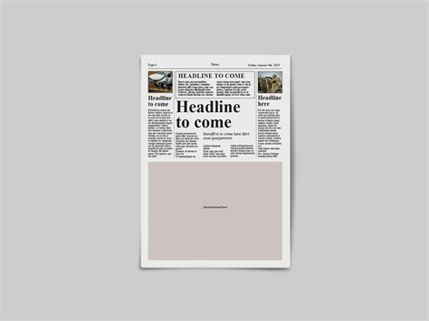 A tabloid is a newspaper with a compact page size smaller than broadsheet. Tabloid Newspaper Template By Dene Studios | TheHungryJPEG.com
