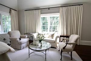 Simple Curtains For Triple Windows Custom Home Design