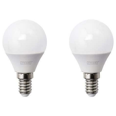 RYET LED bulb E14 200 lumen Globe opal white IKEA