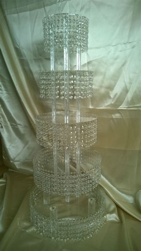 chandelier cake stand cupcake or cake stand tower 5 tier