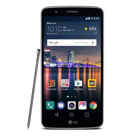 lg mobile android lg stylo 3 lte 5 7 quot android smartphone for boost mobile