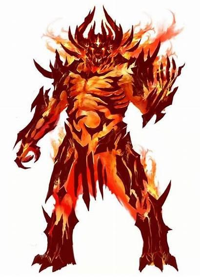 Demon Creatures Fire Character Elemental Concept Humanoid