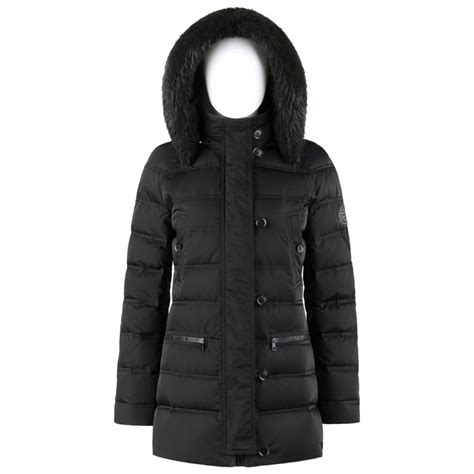 gucci aw  black channel quilted beaver fur trim hooded  puffer coat  sale  stdibs