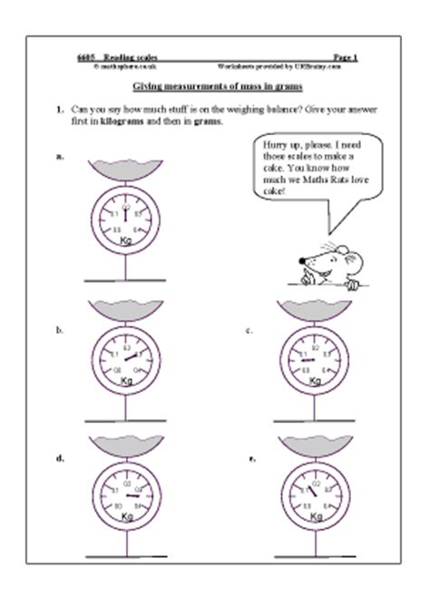 reading scales measuring maths worksheets for year 6 age