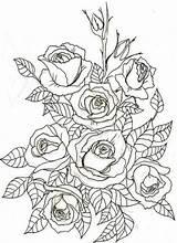 Coloring Rose Mandala Adult Flowers Tattoo Drawing Watercolor Outline Embroidery Ribbon Floral Patterns Roses Negative Dibujos Handbagsonline Printable Lila Tutorial sketch template