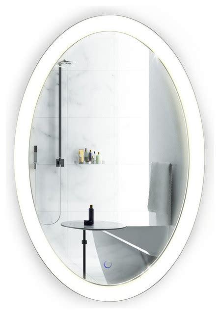Modern Oval Bathroom Mirrors by Oval Led Wall Mounted Fog Free Bathroom Mirror Modern