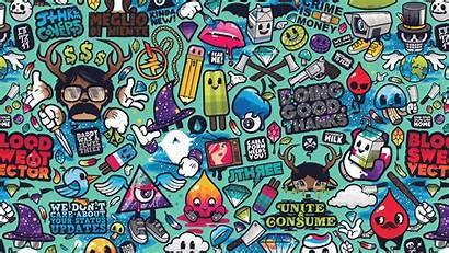 Graffiti Pattern Illustration Grafitti Wallpapers Desktop 4k