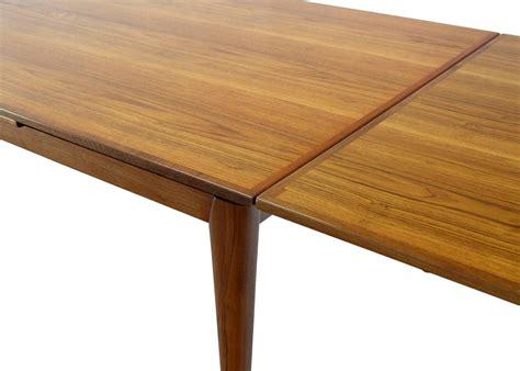 Large Heavy Tapered Legs Danish Modern Teak Table For Sale