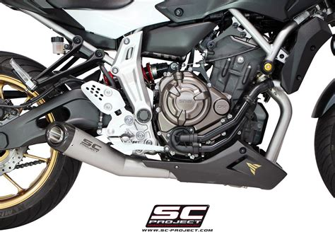 yamaha mt 07 sc project escape completo sc project conic matt grey para yamaha mt 07