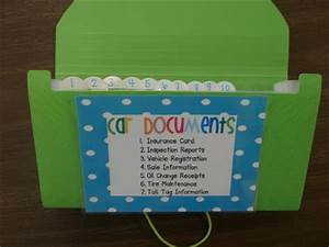 diy home sweet home 16 projects to organize your car With paperwork organizer for car
