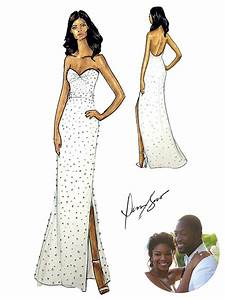 gabrielle union39s wedding dress see the dennis basso With gabrielle union wedding dress