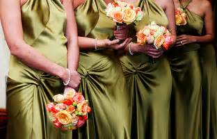 olive green bridesmaid dresses olive green and ivory wedding the merry