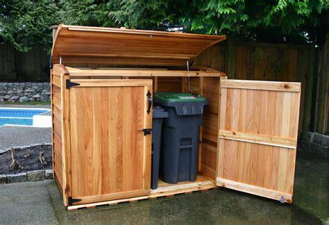 outdoor garbage storage garbage can storage waste management shed oscar 6x3 olt 1292