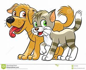 Cartoon Drawings Of Dogs And Cats - Drawing Sketch Library