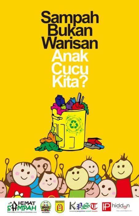 contoh poster lingkungan  slogan  kreatif