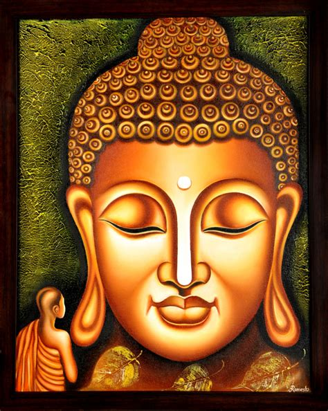 lord buddha painting figurative indian art promoter