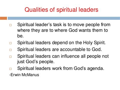 effective spiritual leadership   st century