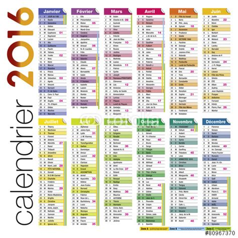 Calendrier 2016 Excel