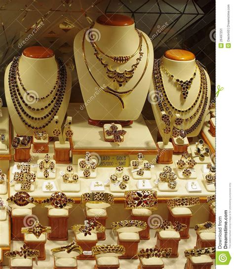 Jewelry Store Display Stock Image Image Of 14kt