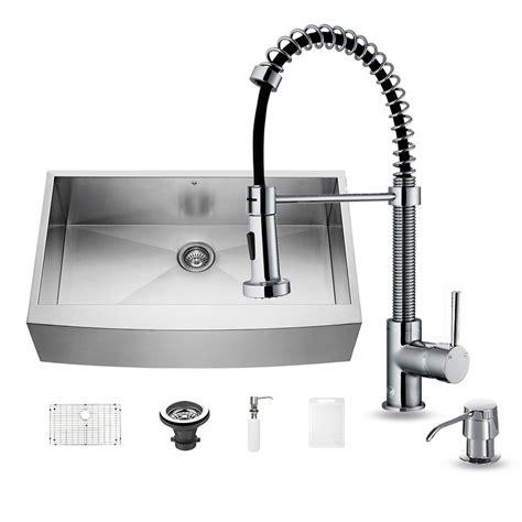 vigo kitchen sinks vigo all in one farmhouse apron front stainless steel 36 3150