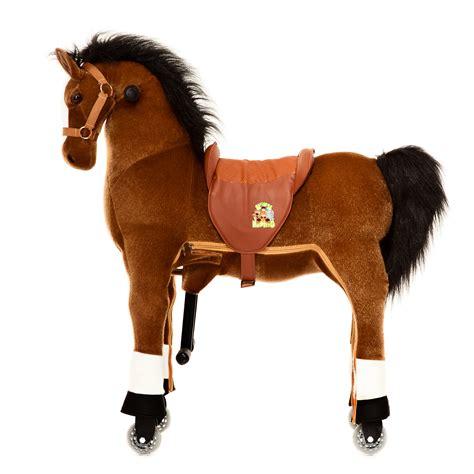 ride  horse toy plush brown horse  animal riding