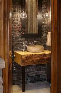 Petite Salle De Bain Design : salle de bain rustique 100 id es d co salle de bain ~ Dailycaller-alerts.com Idées de Décoration