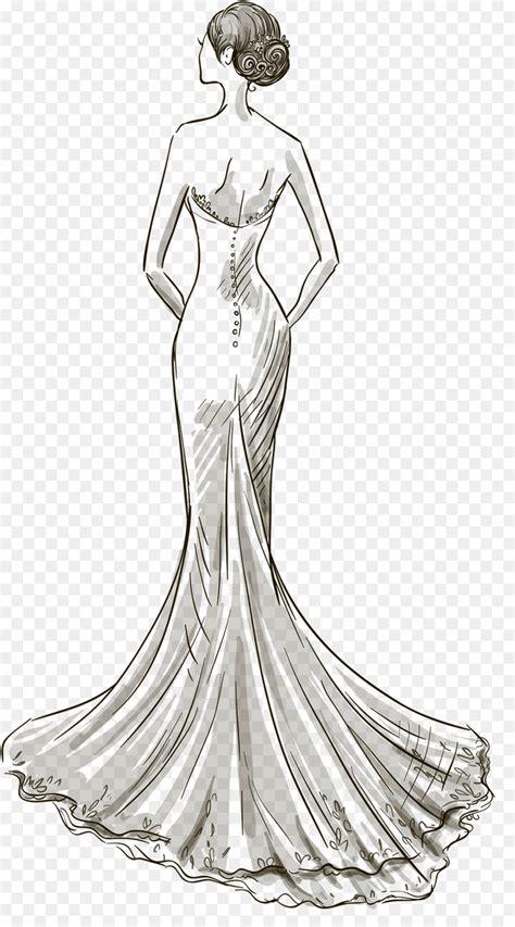 wedding dress drawing dress png
