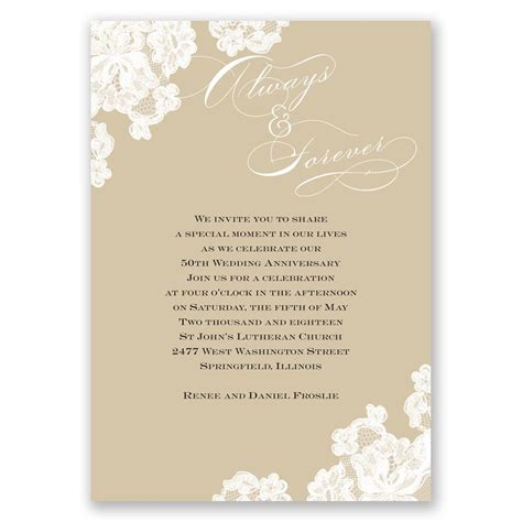 lace anniversary invitation invitations  dawn