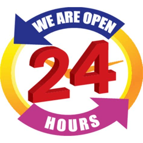 We Are Open 24 Hours Logo, Vector Logo Of We Are Open 24