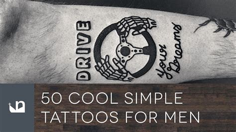 50 Cool Simple Tattoos For Men YouTube